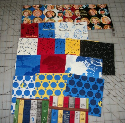 Nancy Drew charm squares