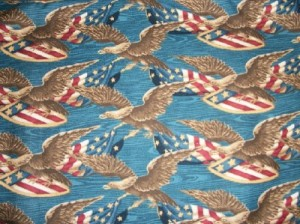eagle wood print fabric