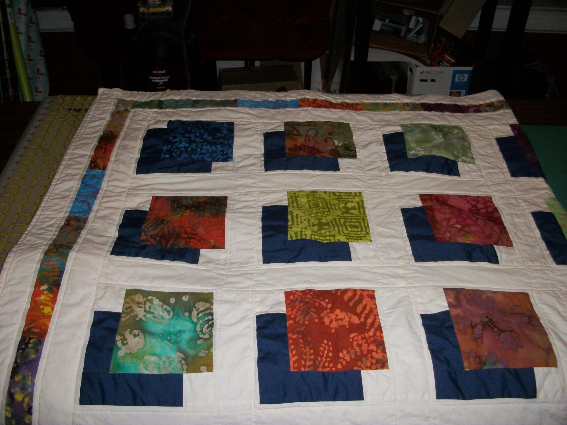 Batik Shadowbox Quilt Finish The Carpenter S Daughter