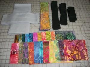 Pearl Bracelets cut fabrics