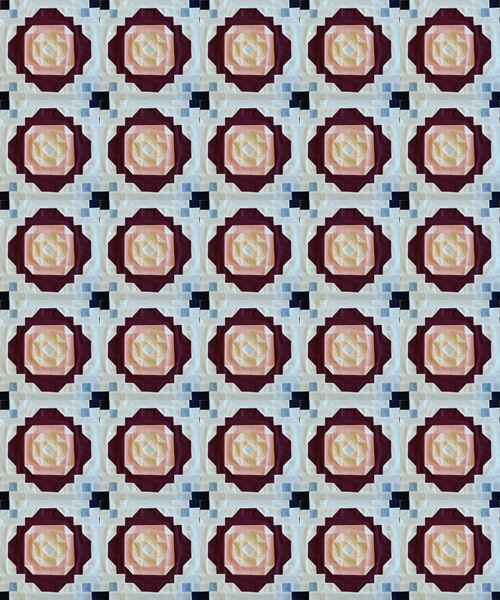 Irish Rose Chain block completed-tile photoscape concept