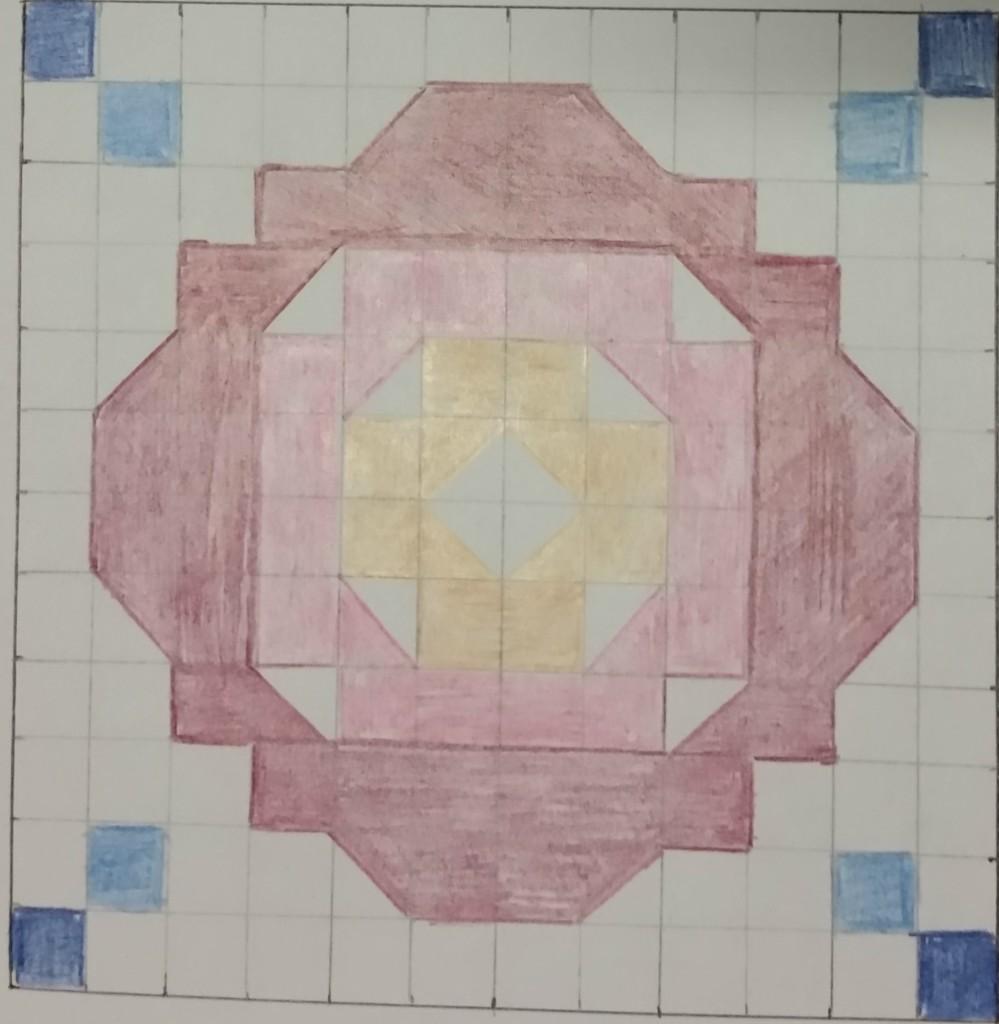 Ocean Rose tile