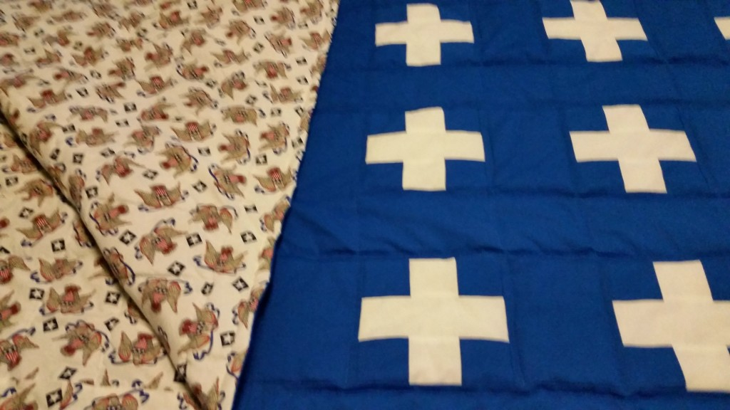 Double the Plus finished quilt topback