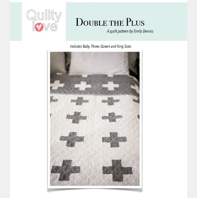Double the Plus pattern cover design