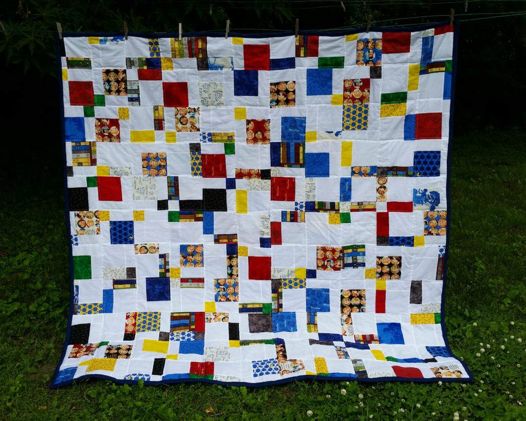 Nancy Drew quilt front hanging
