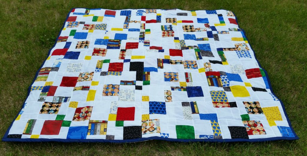 Nancy Drew quilt front on ground