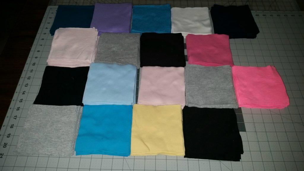 Memory tshirt squares cut