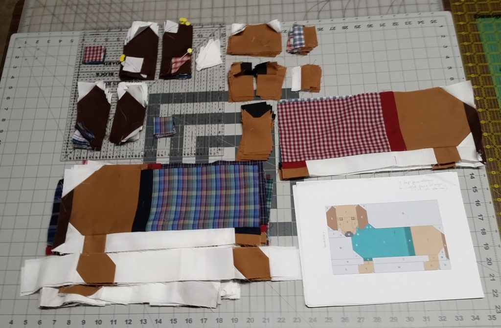 Dogs In Sweaters Dad S Shirts Memory Quilt Project The