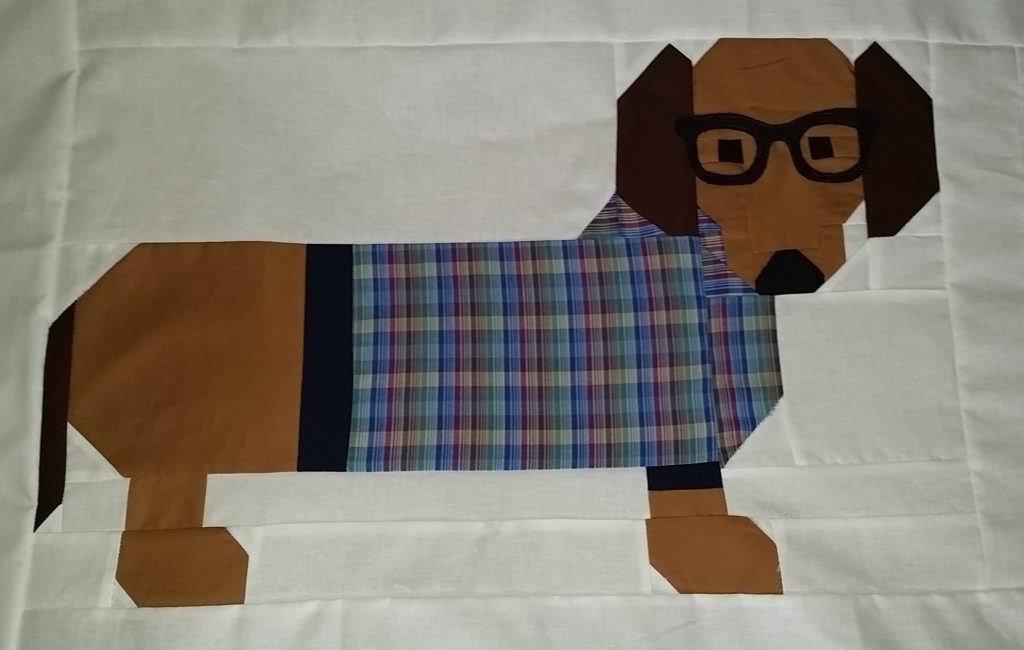 I decided to add glasses also to dog number 4.